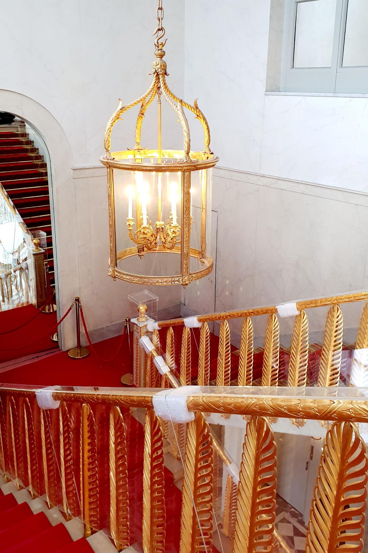 L'escalier Murat, détails.