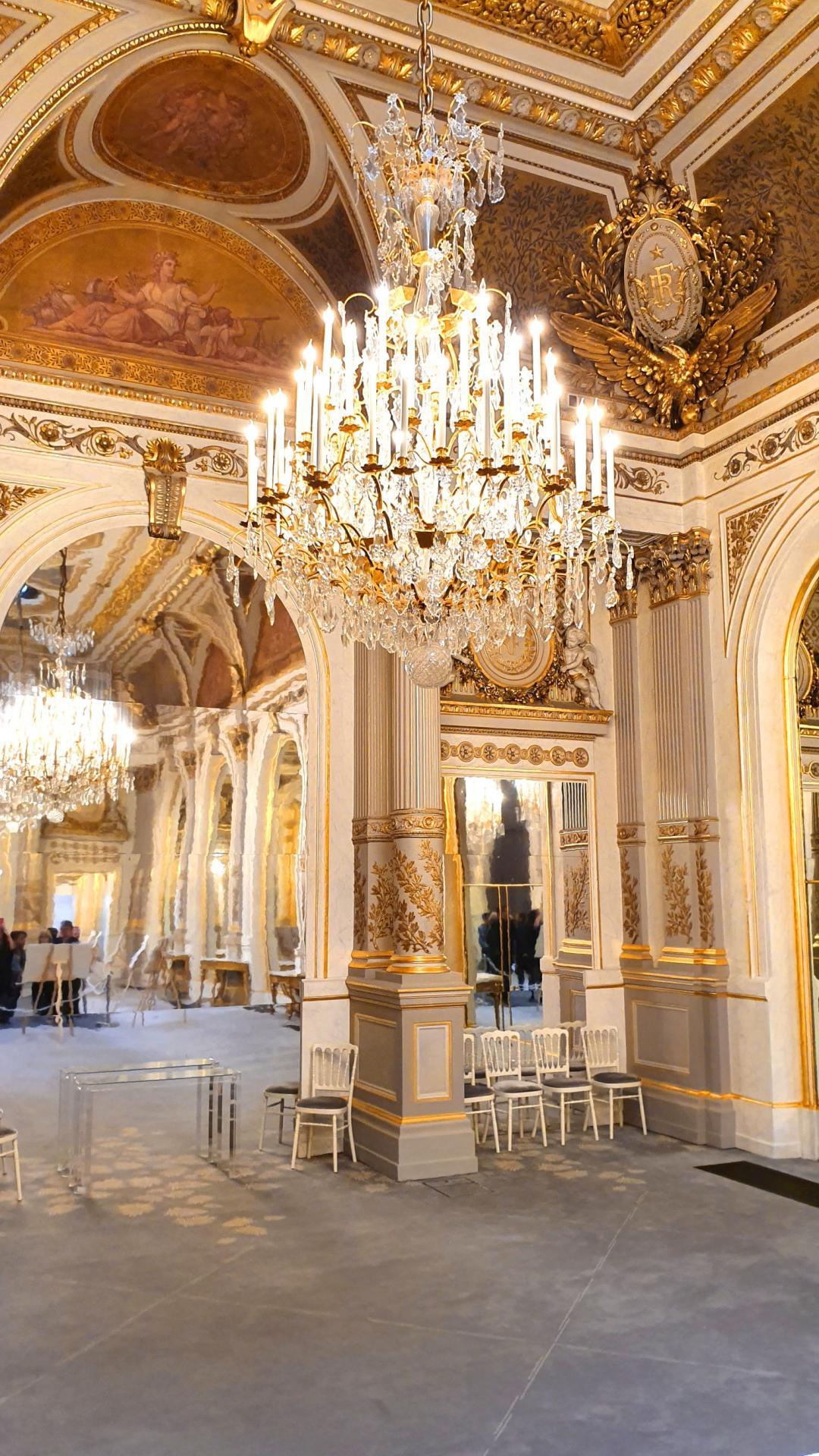Le Salon Napoléon III où se tenaient de grandes réceptions.
