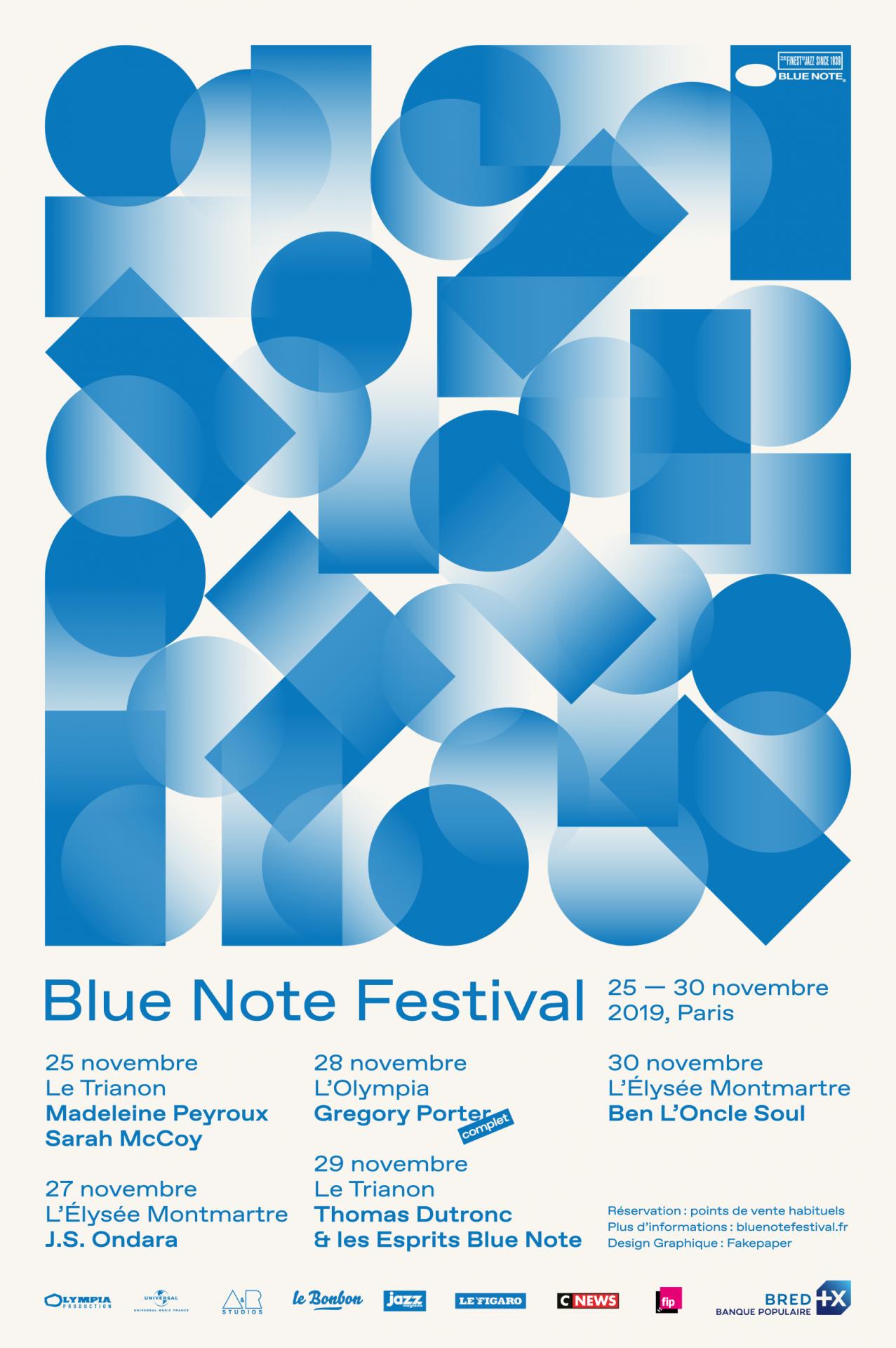 Dès mardi prochain, tout le programme du Blue Note Festival !