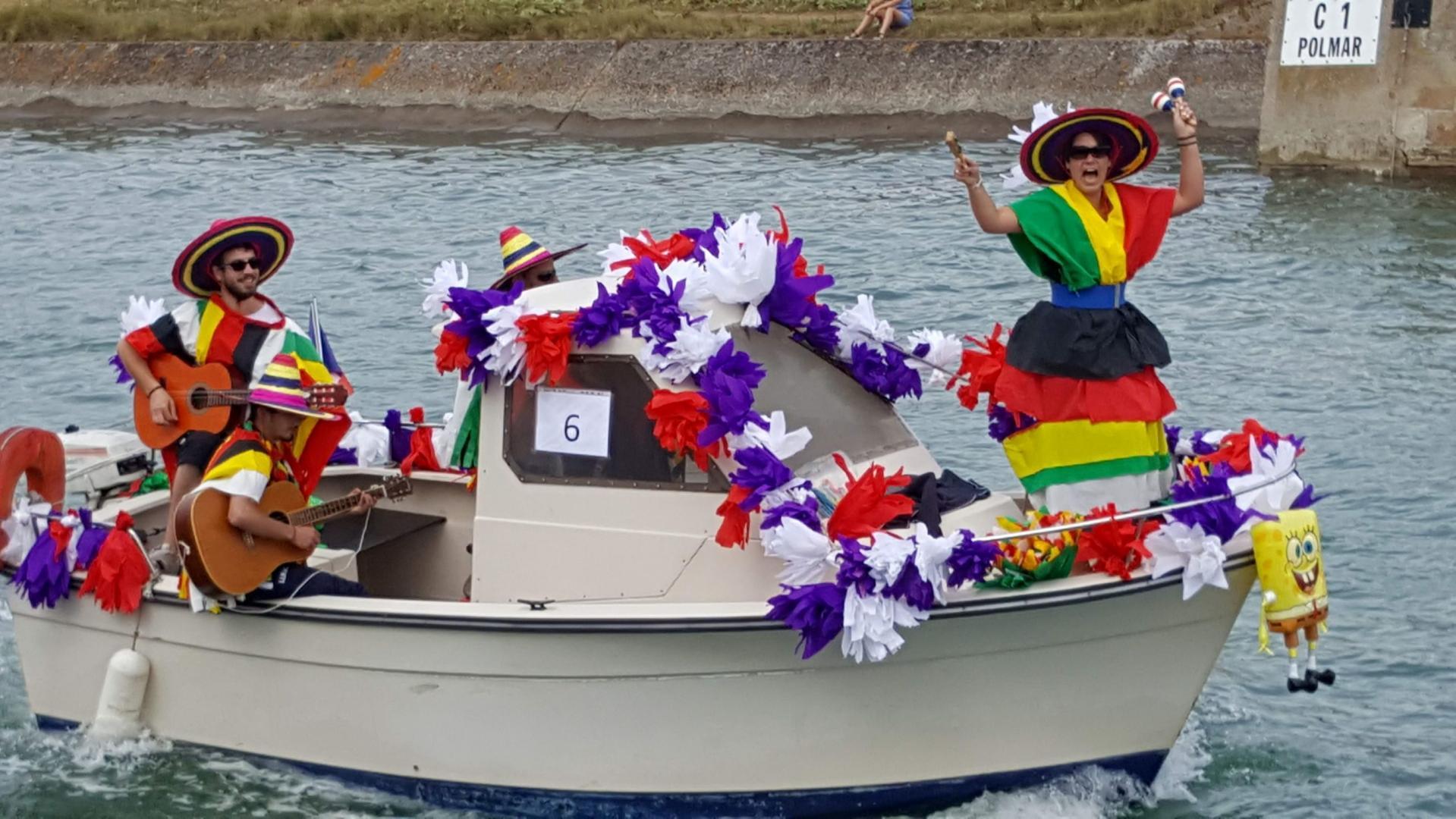 Présentation des bateaux décorés, édition 2018.