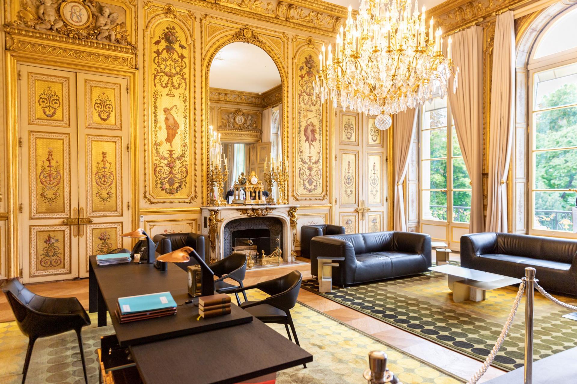 Le bureau du Président de la République.