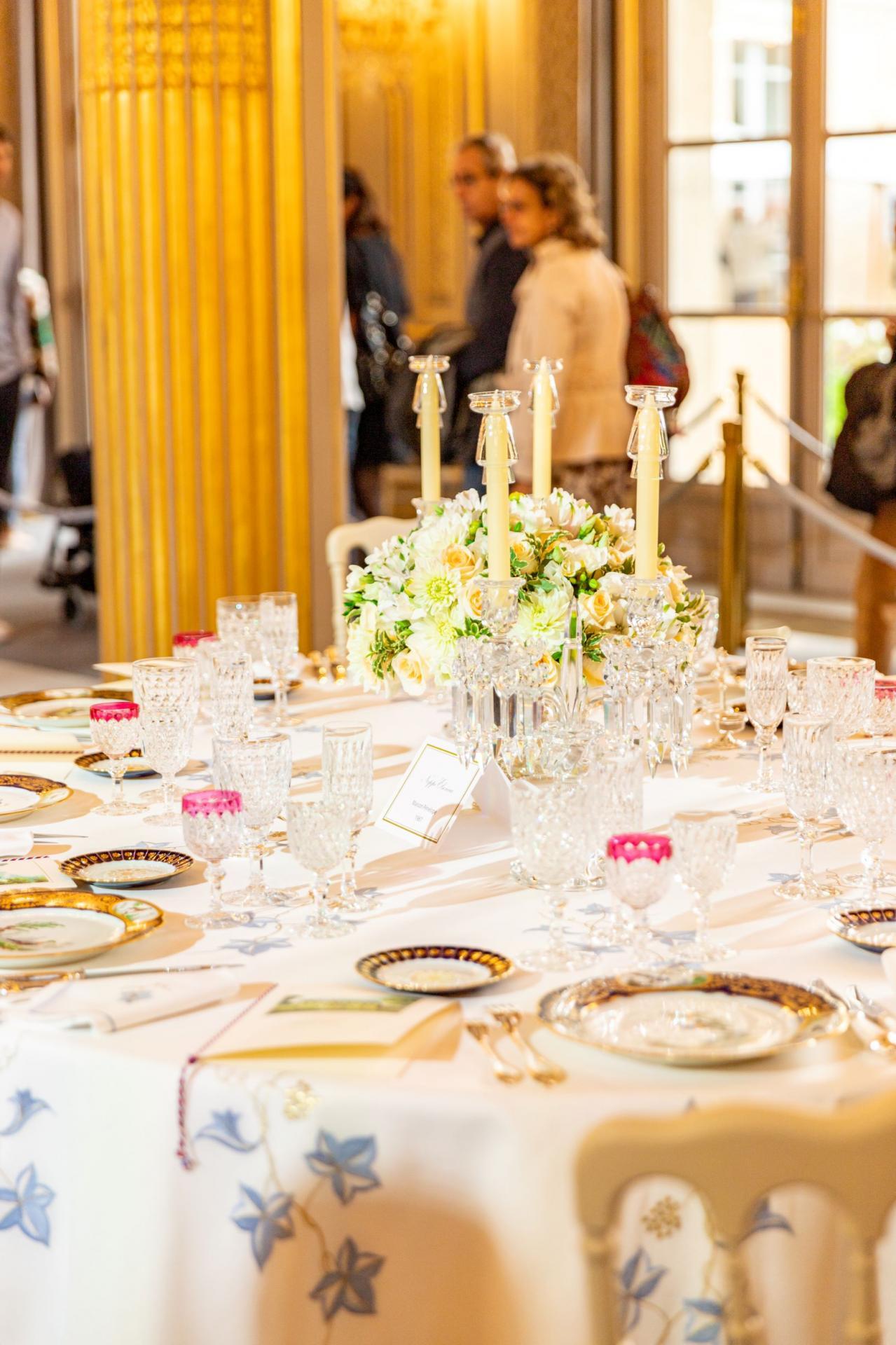 Pour les journées du Patrimoine avaient été dressées quelques tables.