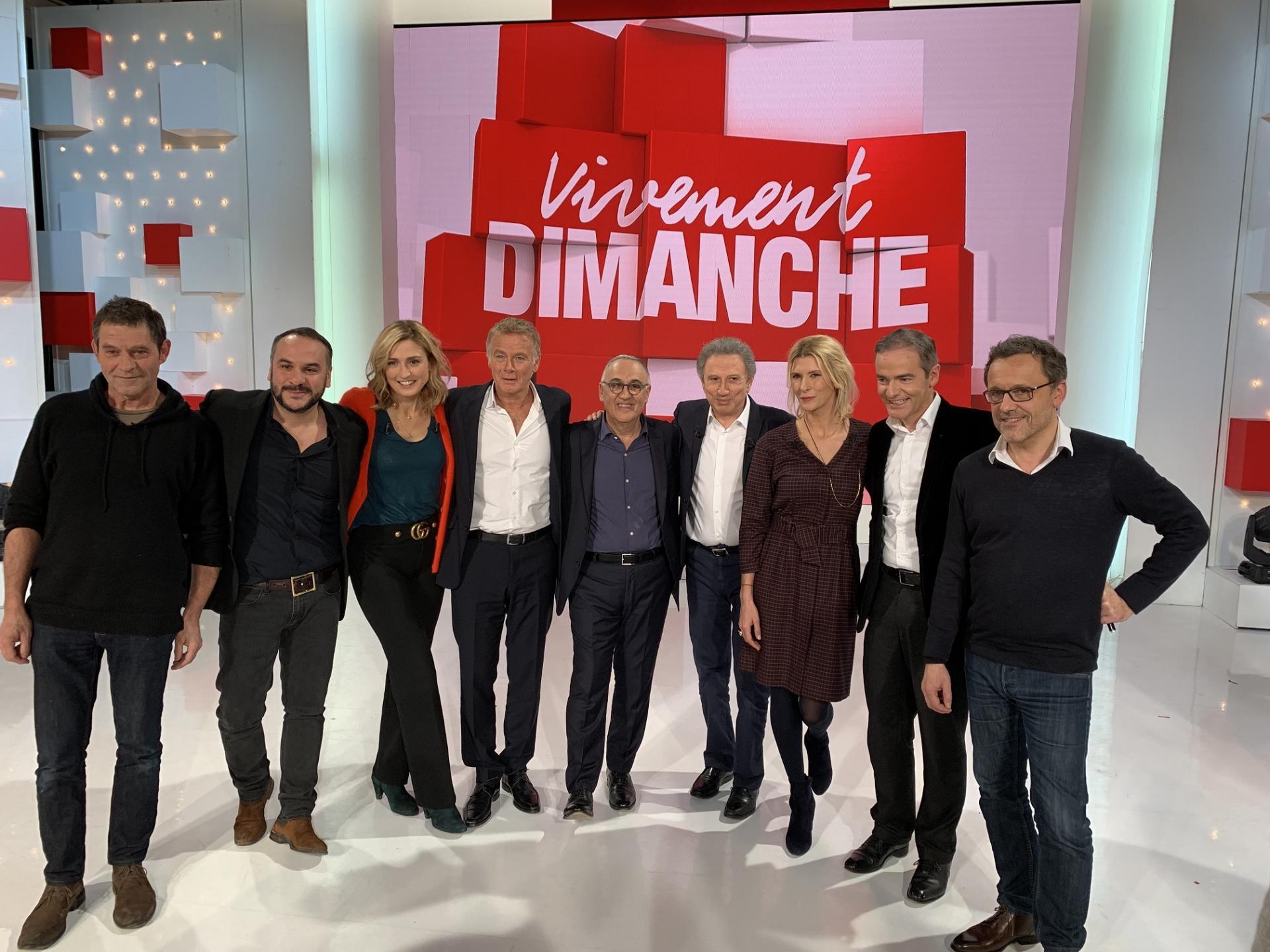 Aux côtés de Michel Drucker et ses invités.